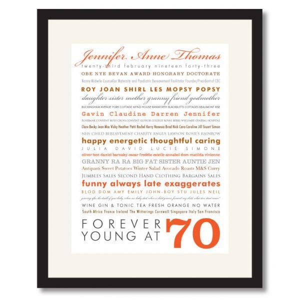 70th Birthday Print