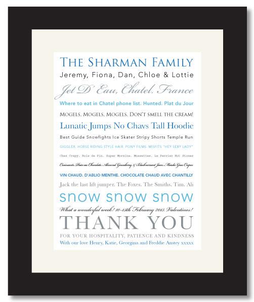Ski Holiday Print
