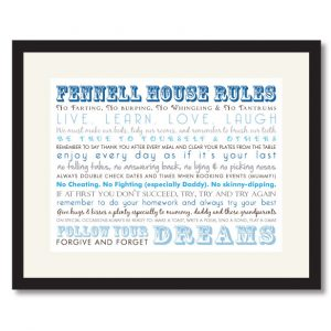 House Rules Print