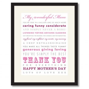 Mother's Day - Thank You Print